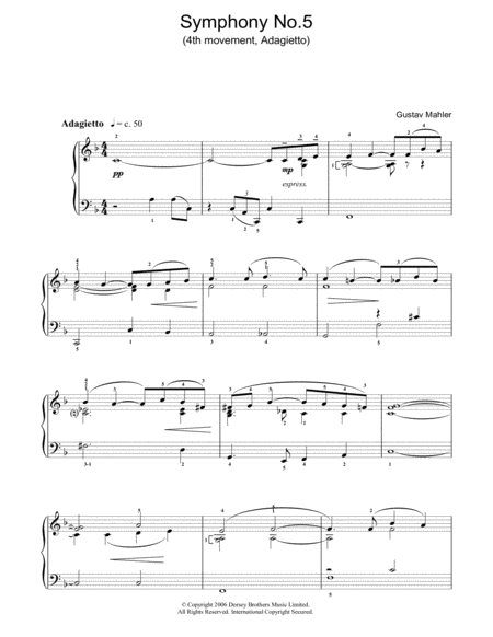 'Adagietto' From Symphony No. 5 (4th Movement)
