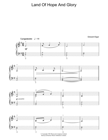 Land Of Hope And Glory (Pomp And Circumstance, March No. 1) (English National Anthem)