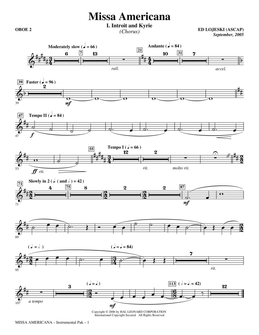 Missa Americana - Oboe 2