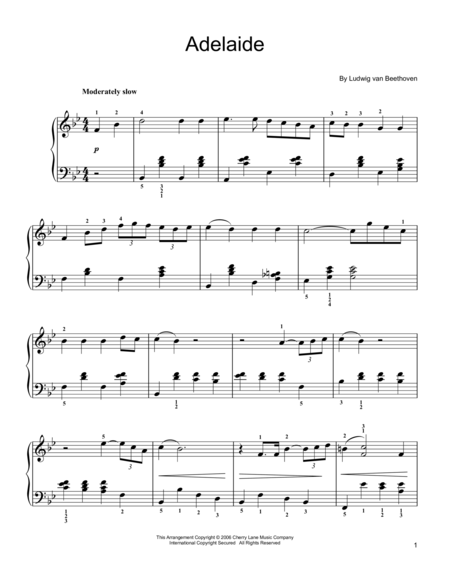 Adelaide, Op. 46