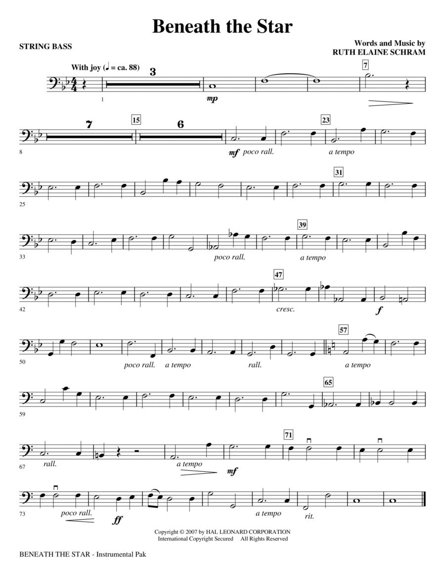 Beneath The Star - String Bass