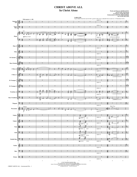 Christ Above All - Full Score