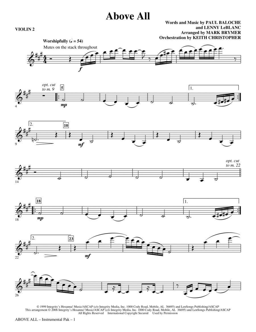 Above All - Violin 2