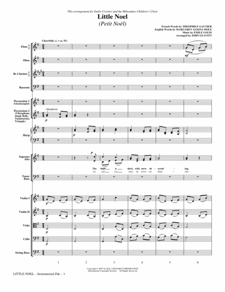 Little Noel (Petit Noel) - Full Score