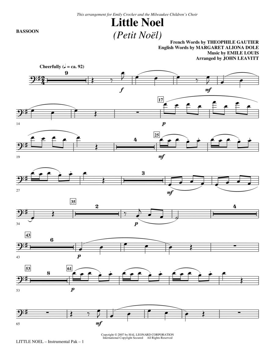 Little Noel (Petit Noel) - Bassoon
