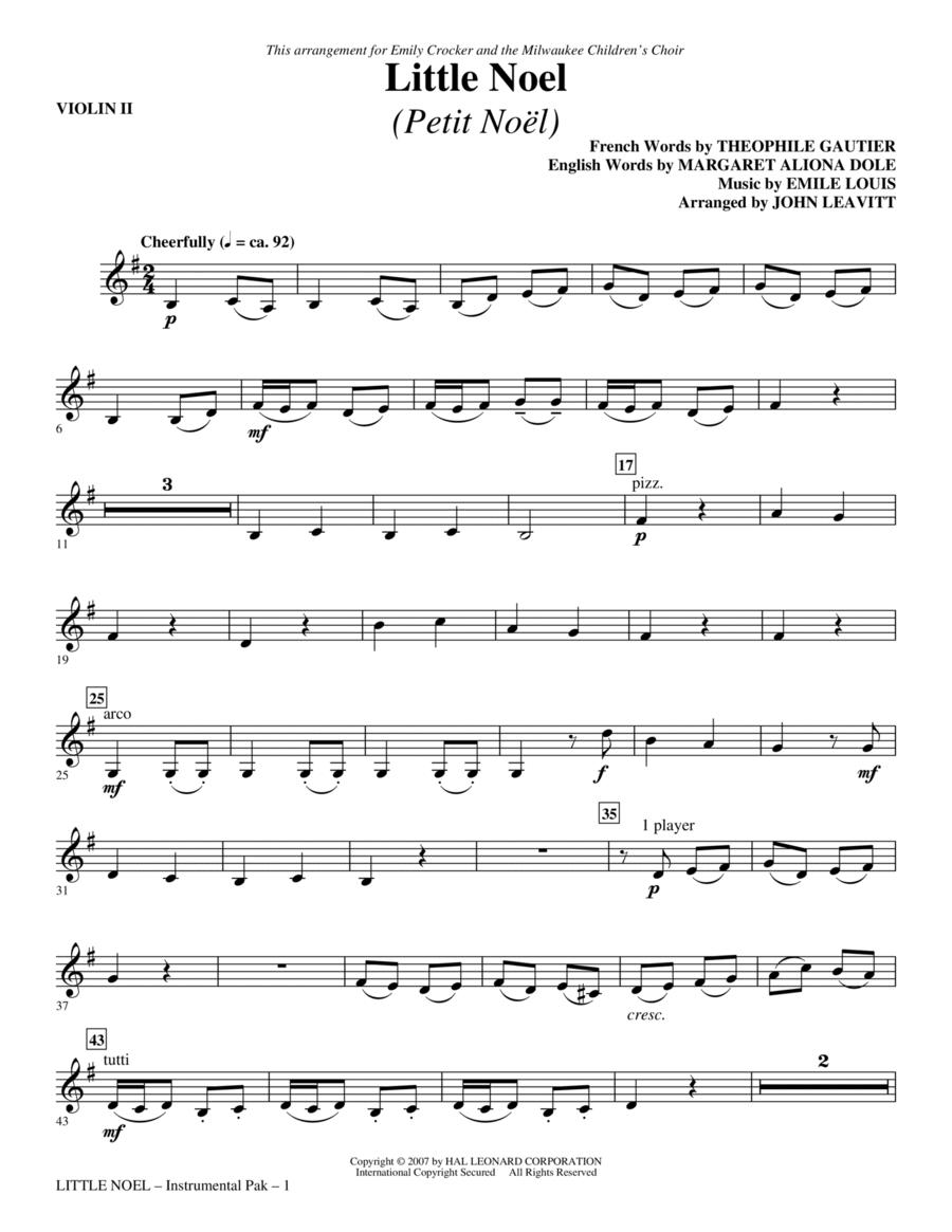 Little Noel (Petit Noel) - Violin 2