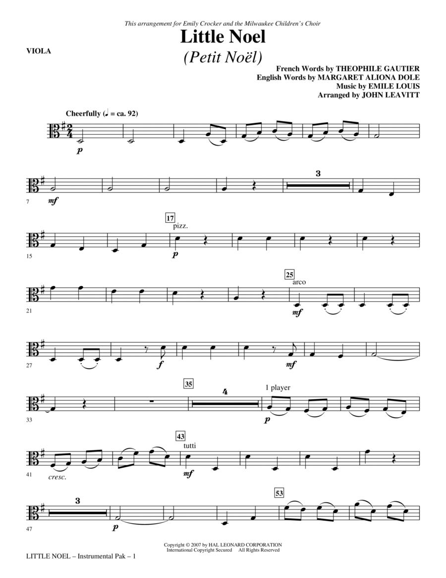 Little Noel (Petit Noel) - Viola