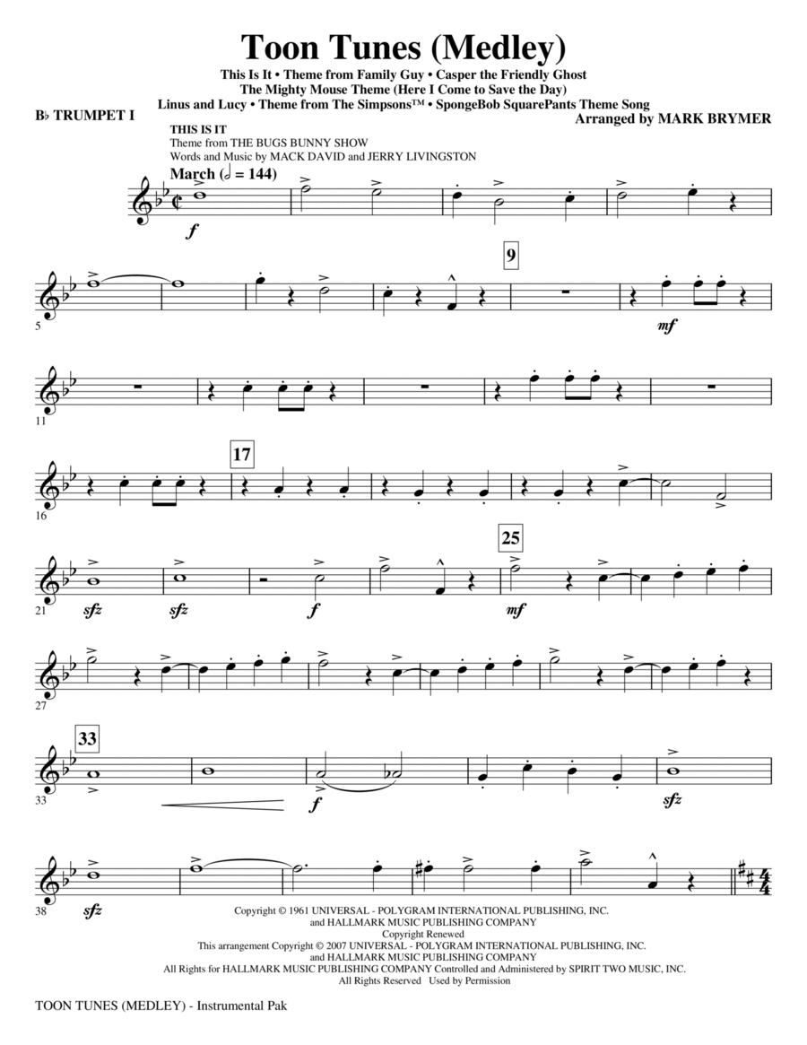 Toon Tunes - Bb Trumpet 1