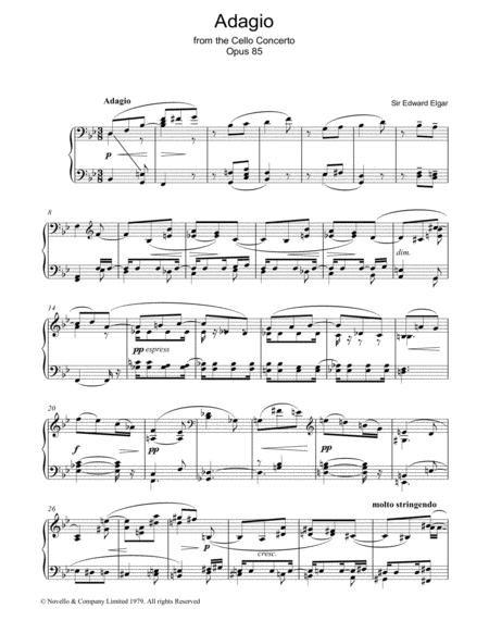 Adagio From The Cello Concerto Opus 85