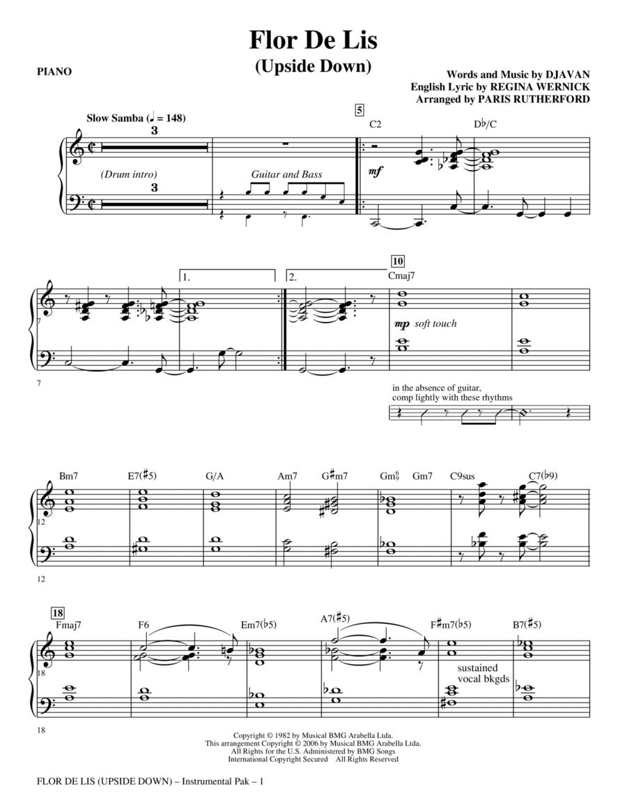 Flor De Lis (Upside Down) - Piano