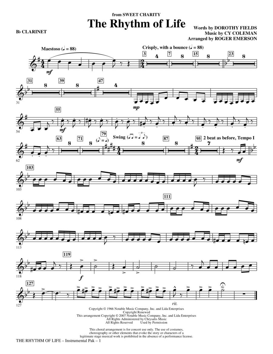 The Rhythm Of Life - Bb Clarinet