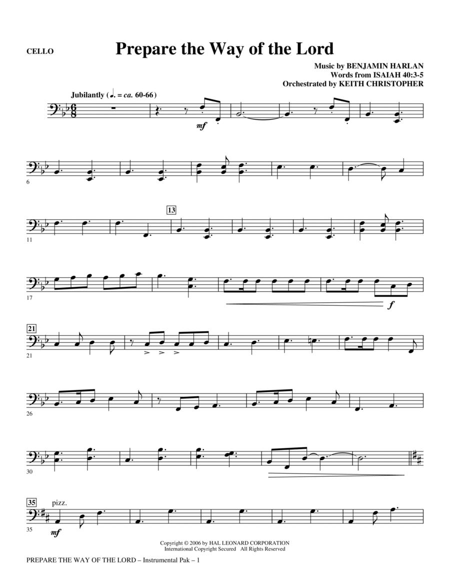 Prepare The Way Of The Lord - Cello