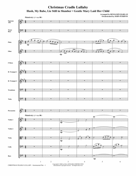 Christmas Cradle Lullaby - Full Score