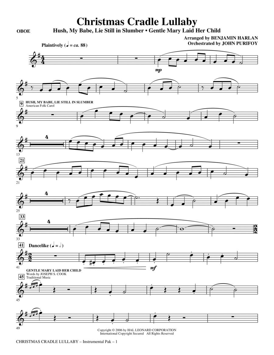 Christmas Cradle Lullaby - Oboe