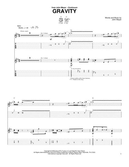 Gravity John Mayer Chords - Tracyengel.club