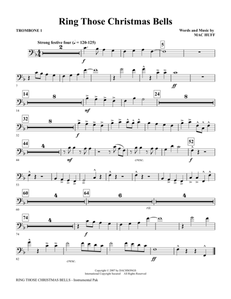 Download ring those christmas bells trombone sheet