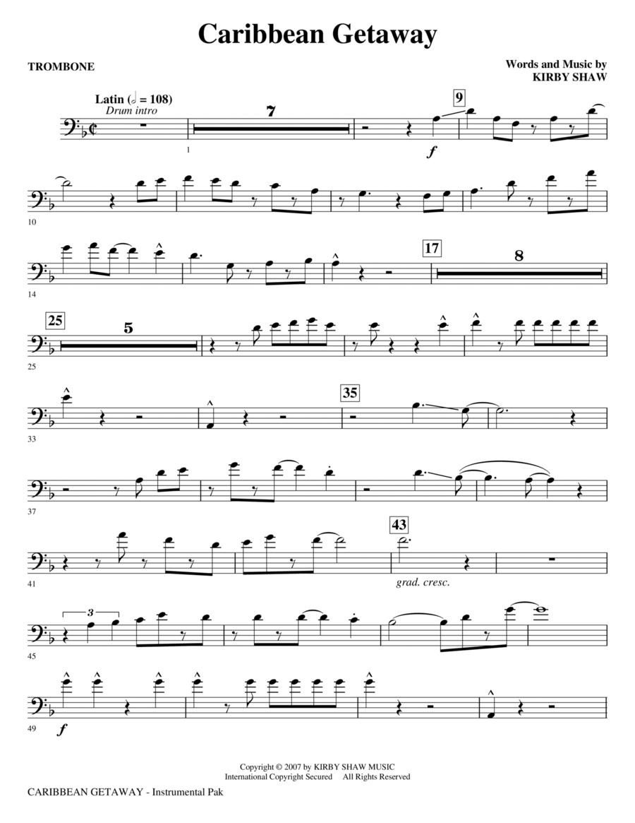 Caribbean Getaway - Trombone