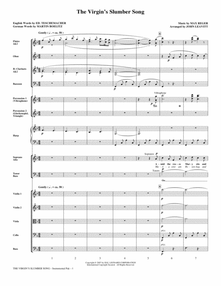 The Virgin's Slumber Song - Full Score