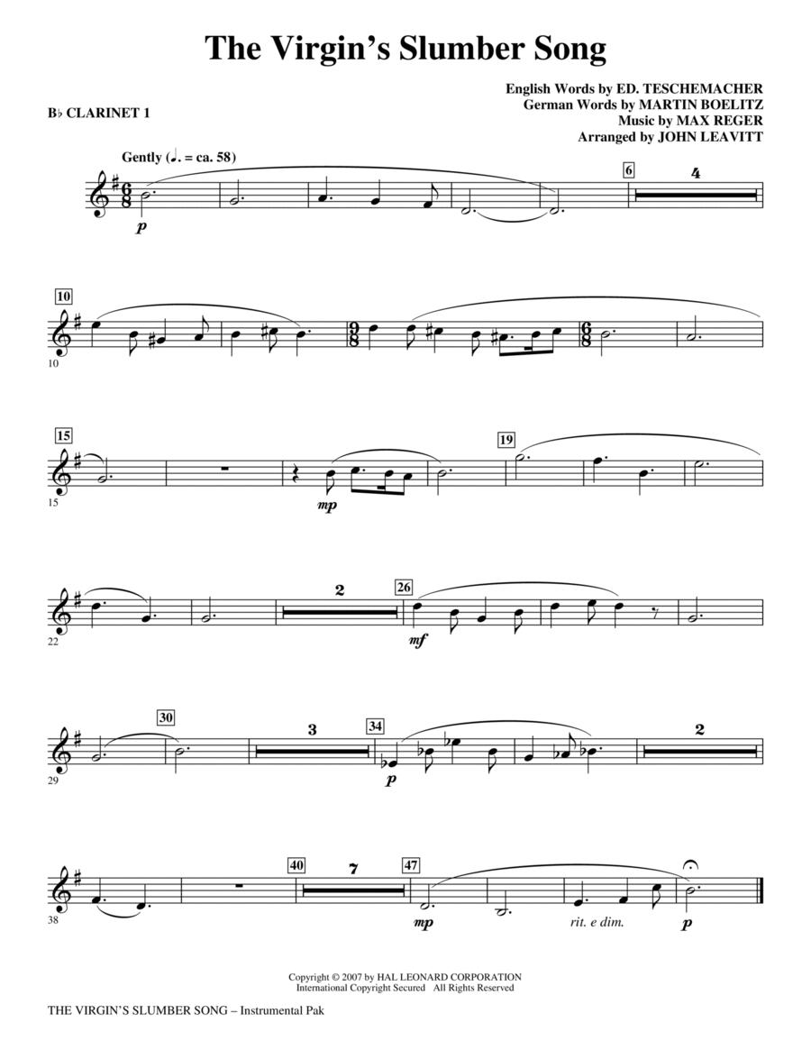 The Virgin's Slumber Song - Bb Clarinet 1