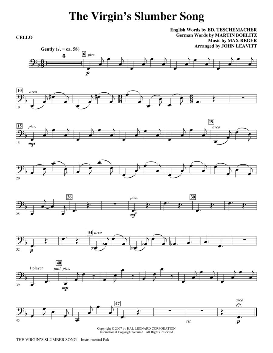 The Virgin's Slumber Song - Cello