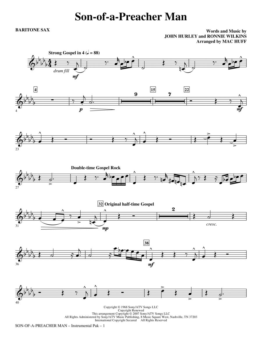 Son-of-a-Preacher Man - Baritone Sax