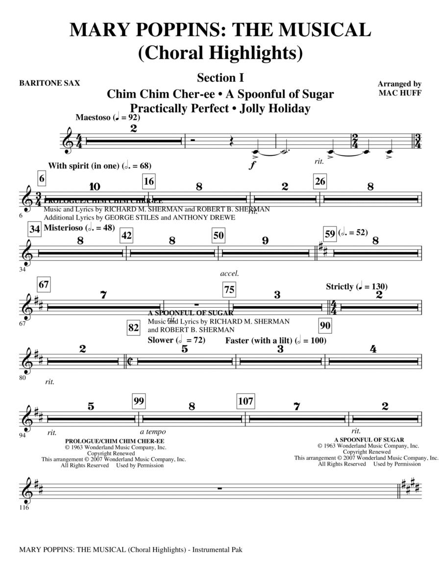 Mary Poppins: The Musical - Baritone Sax
