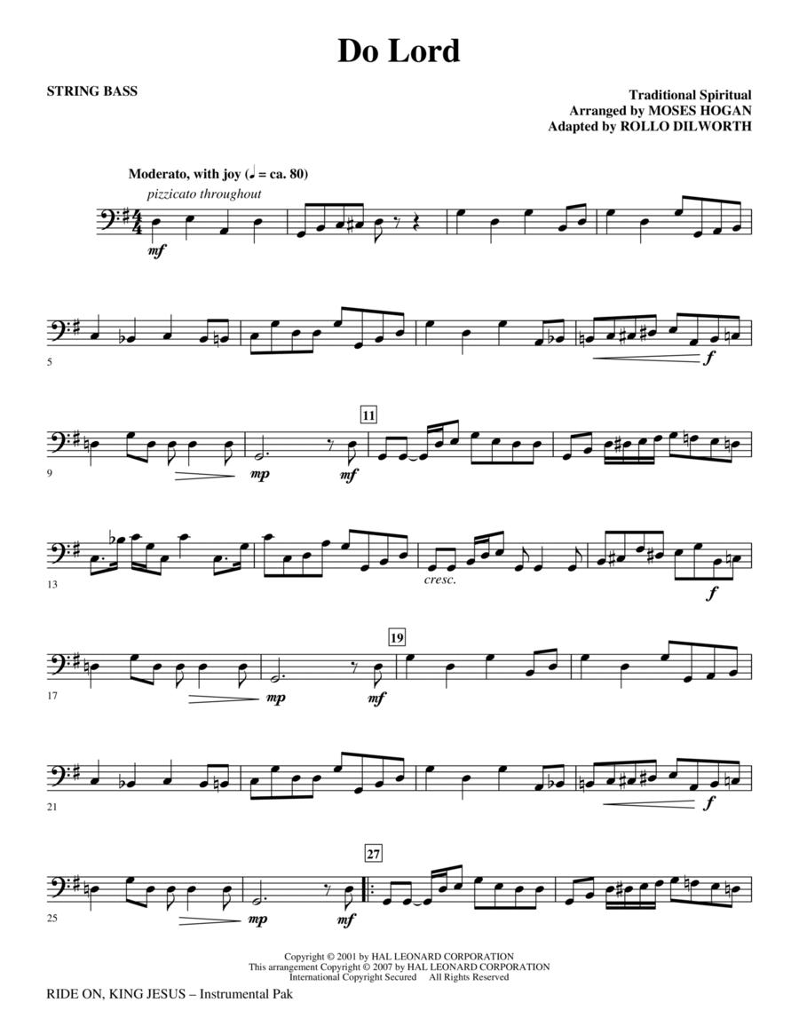 Ride On, King Jesus - String Bass