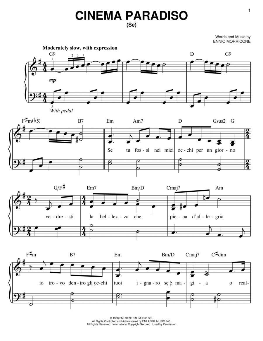 Download Cinema Paradiso Sheet Music By Josh Groban