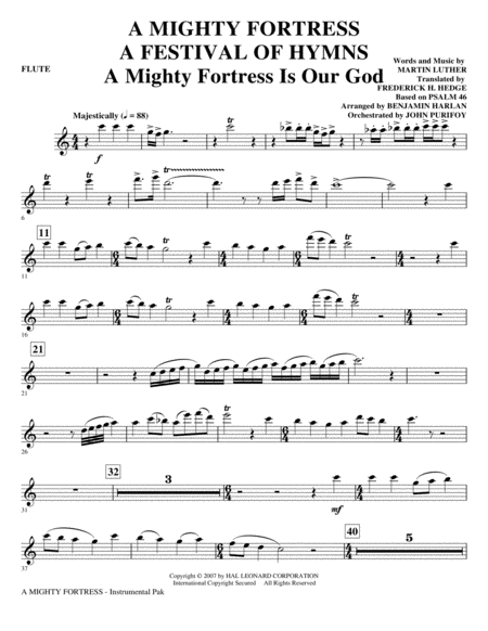 A Mighty Fortress - A Festival of Hymns - Flute