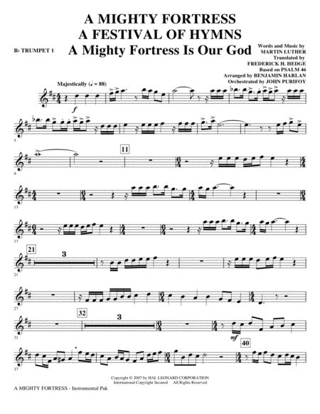 A Mighty Fortress - A Festival of Hymns - Bb Trumpet 1