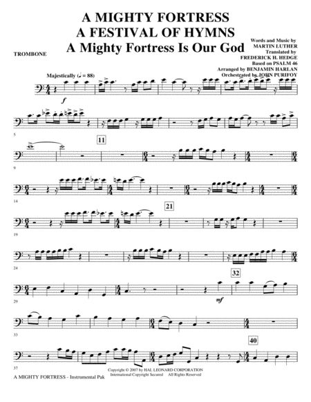 A Mighty Fortress - A Festival of Hymns - Trombone