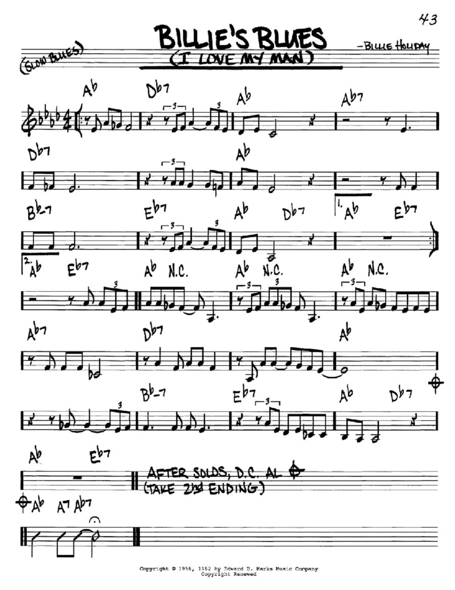 Billie's Blues (I Love My Man)