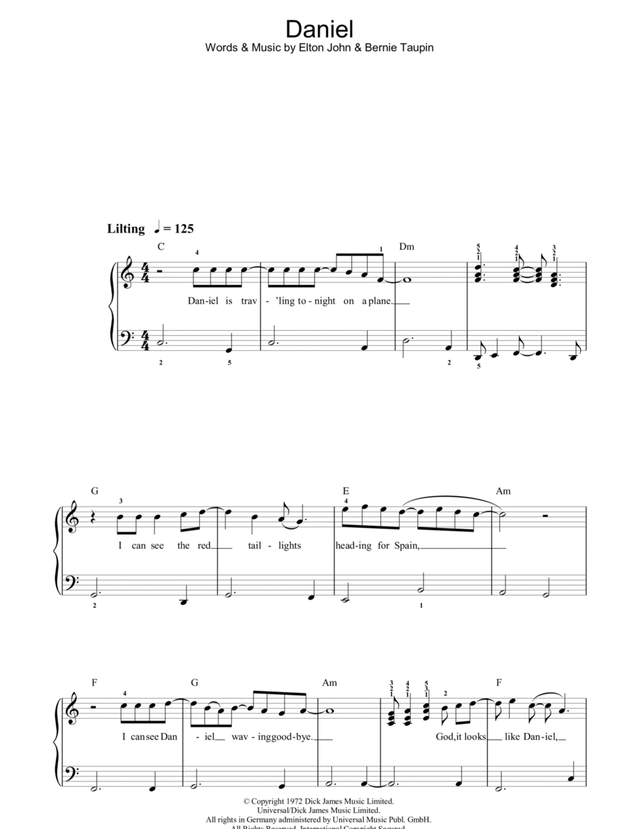 Daniel (Chorus Only)