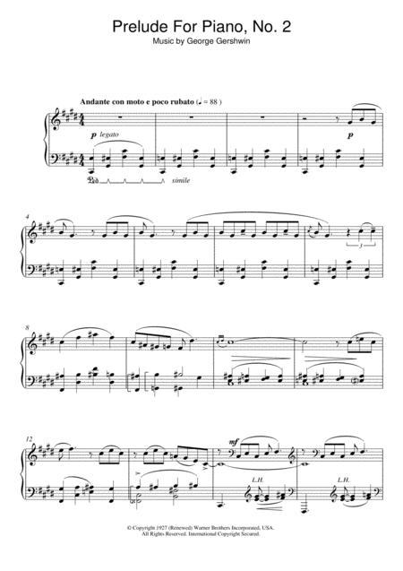 Prelude For Piano, No.2
