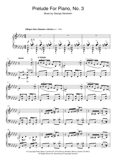 Prelude For Piano, No.3