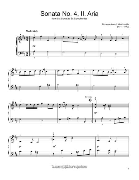 Sonata No. 4, II. Aria