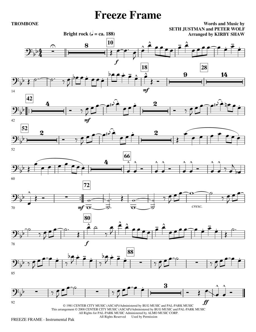 Freeze Frame - Trombone