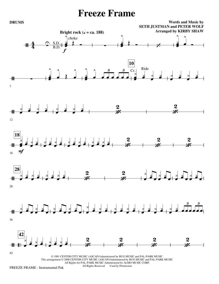 Freeze Frame - Drums