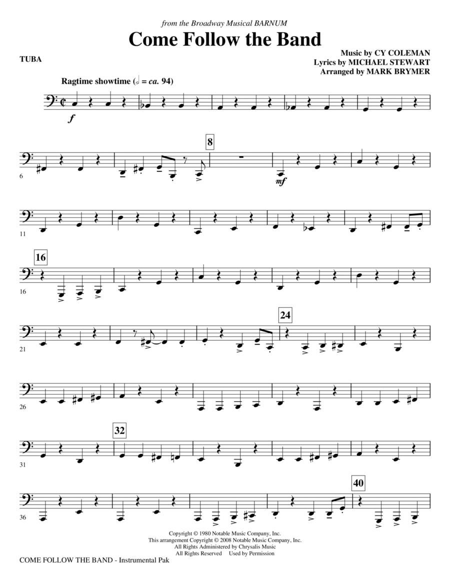 Come Follow The Band - Tuba