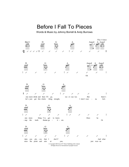 Before I Fall To Pieces