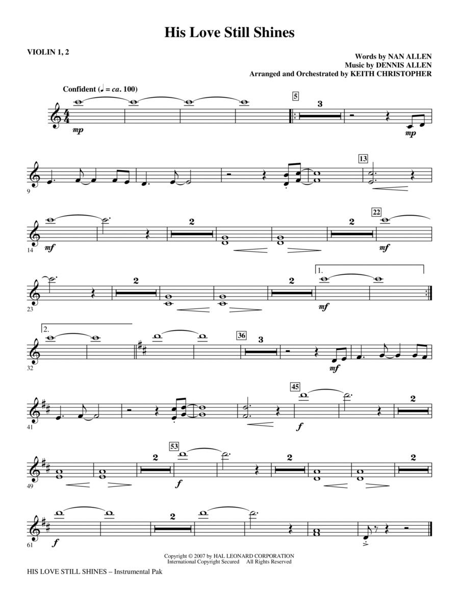 His Love Still Shines - Violin 1, 2