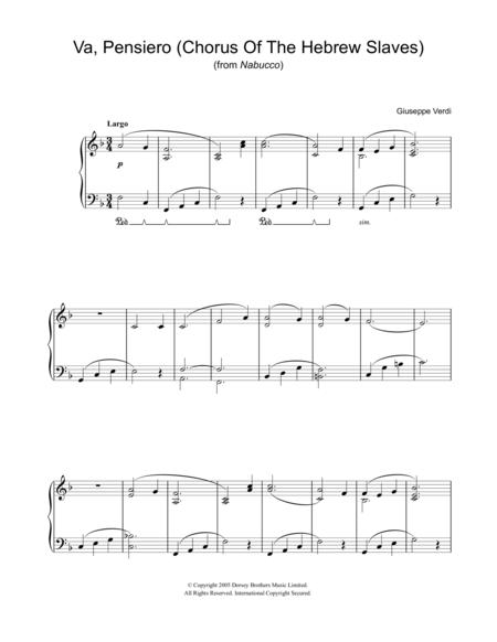 Va, Pensiero (Chorus Of The Hebrew Slaves) (from Nabucco)