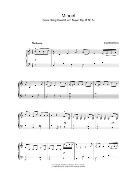 Minuet (from String Quartet in E Major, Op.11 No.5)