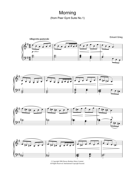 Morning (from Peer Gynt Suite No. 1)
