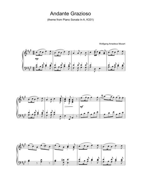 Andante Grazioso (theme from Piano Sonata In A, K331)