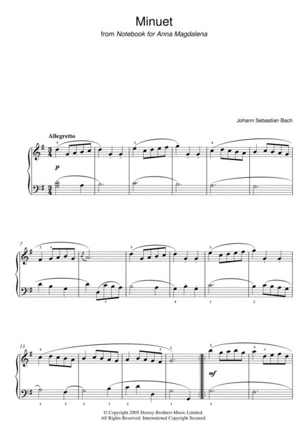 Minuet I (Anna Mag)                 Bach