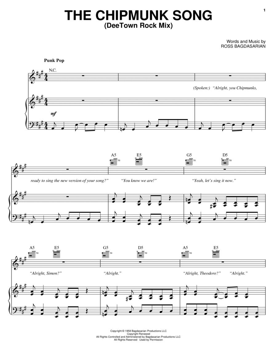 The Chipmunk Song (DeeTown Rock Mix)