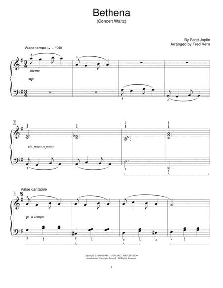 Bethena, Ragtime Waltz