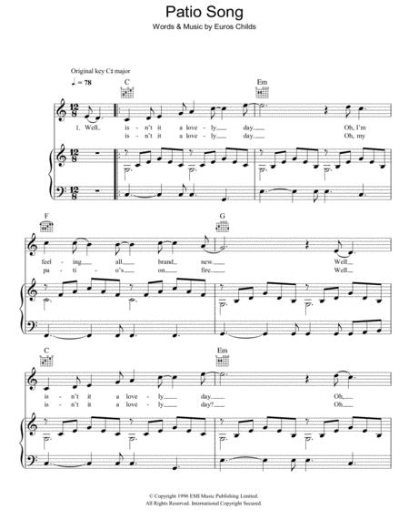 Patio Song