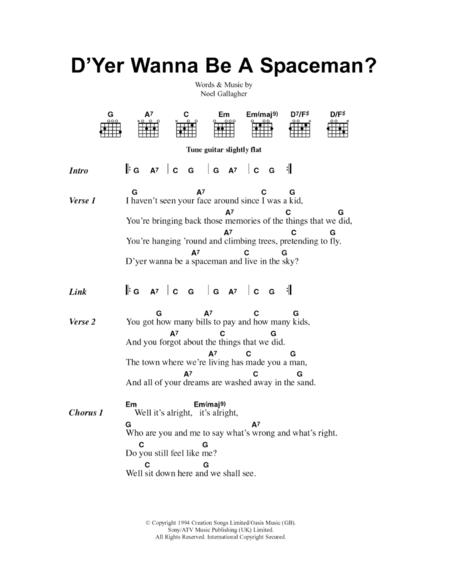 D'Yer Wanna Be A Spaceman?